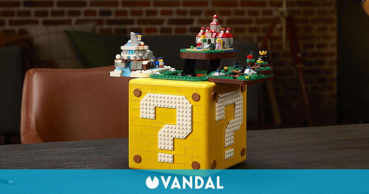 Este bloque de LEGO contiene dioramas en homenaje a Super Mario 64 y cuesta 170 euros
