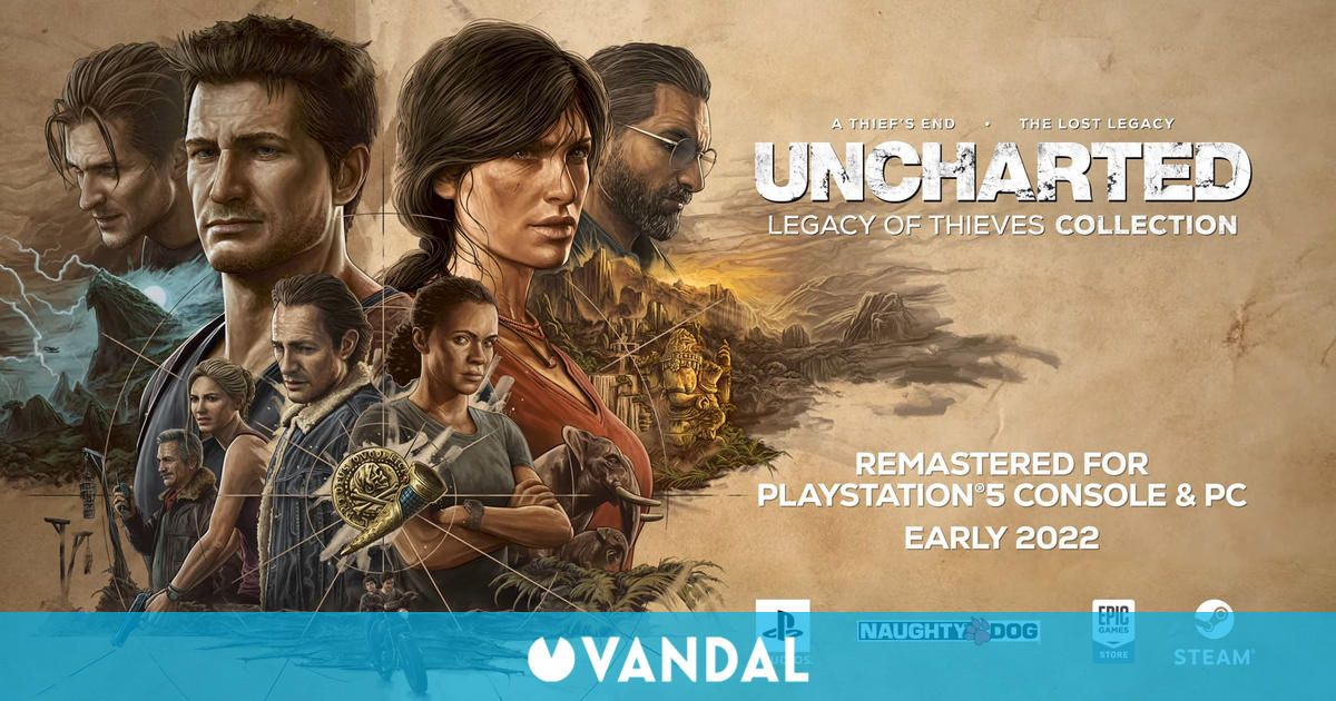 Uncharted llegará remasterizado a PS5 y PC con Uncharted: Legacy of Thieves Collection