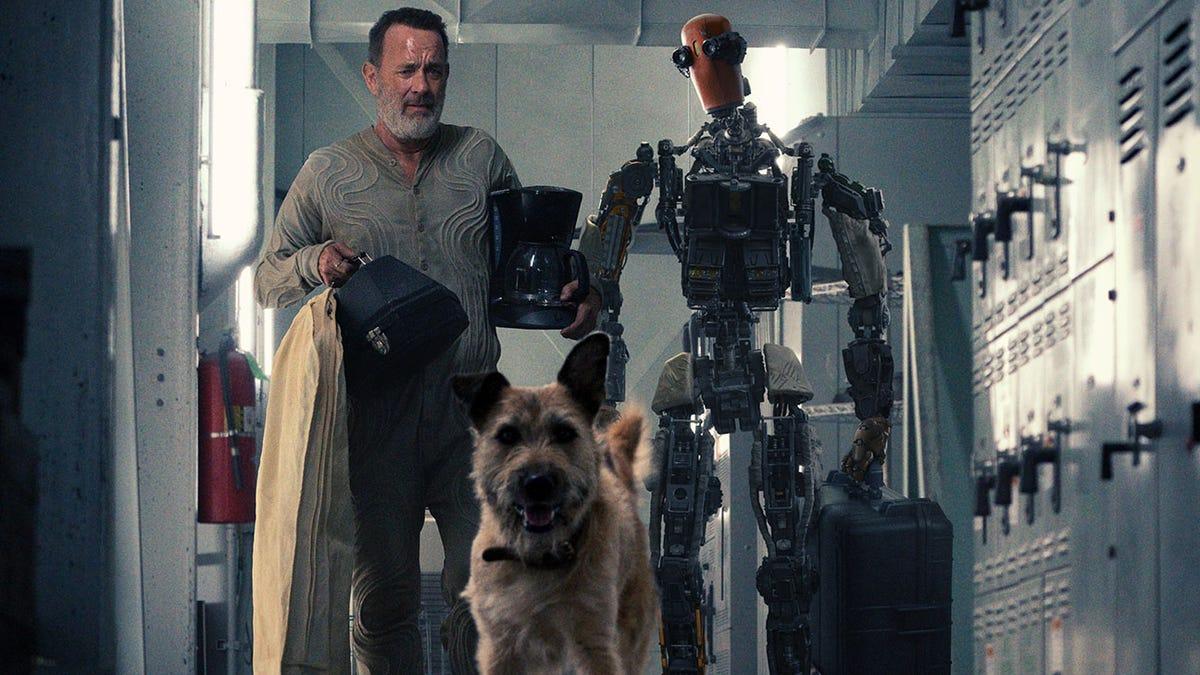 Tom Hanks, su perro y robot sobreviven al apocalipsis