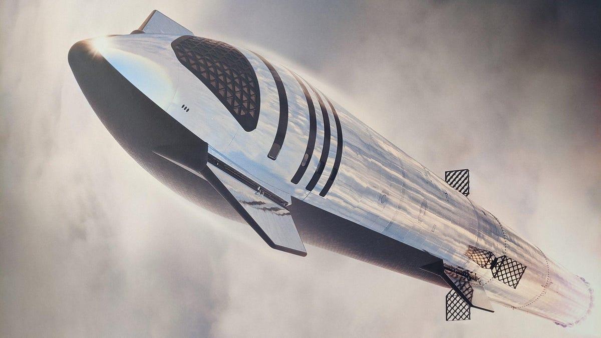 SpaceX publica una imagen de cómo será la Starship cuando esté terminada