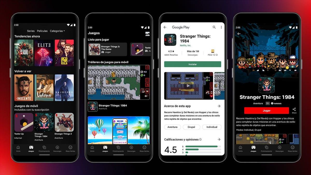 Ya puedes jugar a los primeros videojuegos de Netflix en su app