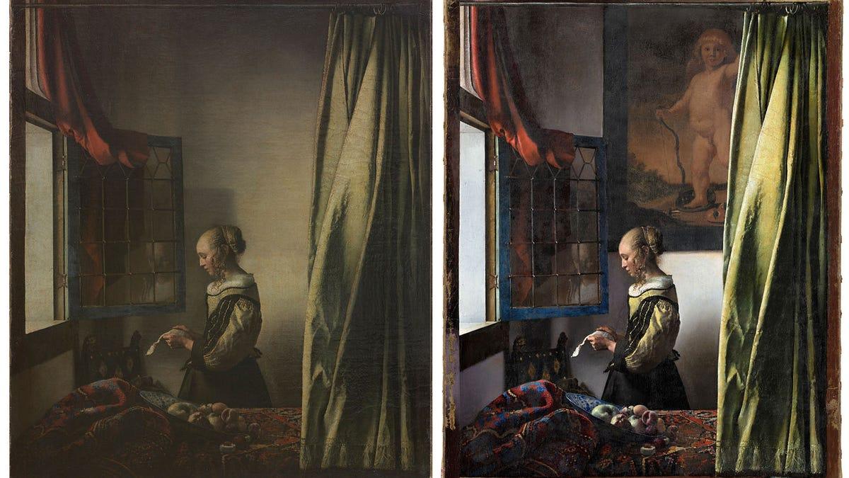 Revelan un enorme cupido oculto en un cuadro de Vermeer