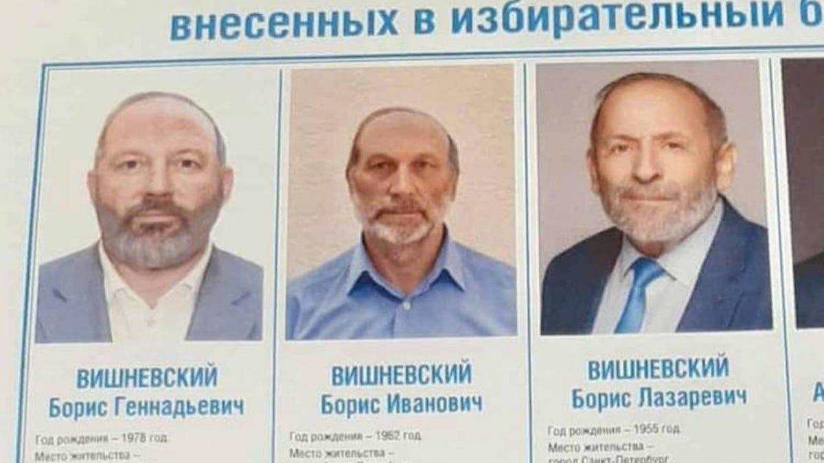 Tres políticos rusos tienen el mismo nombre y la misma cara