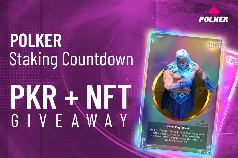¡Sorteo masivo de NFT y Token de Polker cuando se anuncia el Staking!