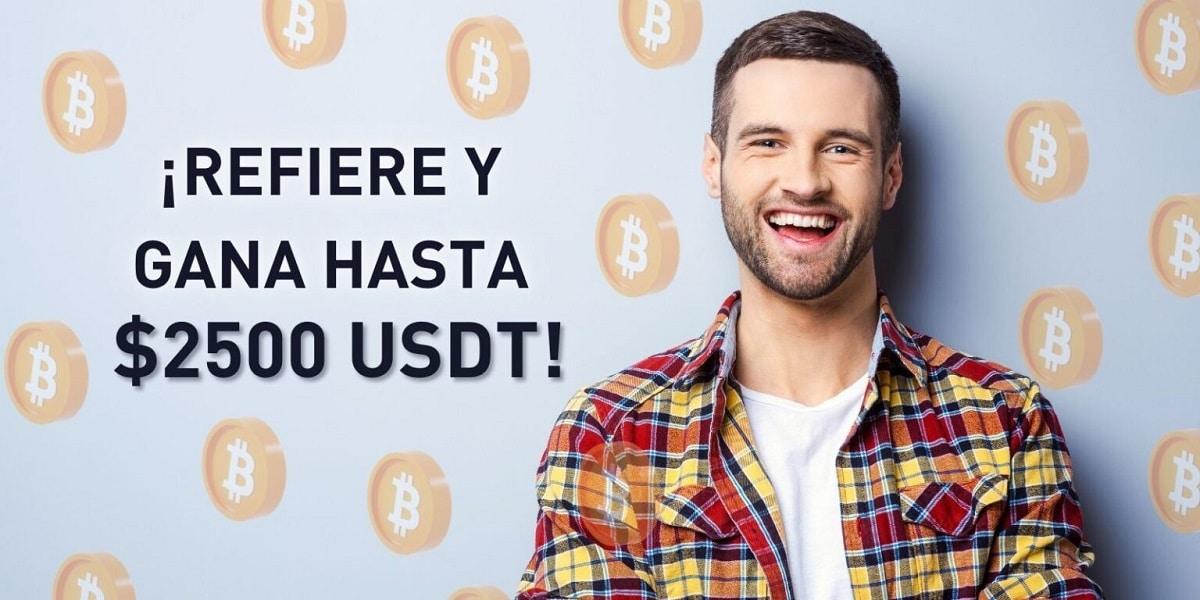 Con el programa de referidos de Bybit puedes ganar hasta 2.500 USDT