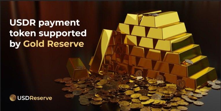Token de pago USDR respaldado por Gold Reserve