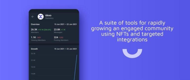 idexo lanza un kit de desarrollo comunitario para ayudar a las marcas Mint NFT en Twitter y Telegram