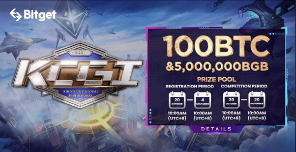 La competencia comercial Bitget KCGI se abre para el registro el 20 de octubre con un premio acumulado de 100 BTC