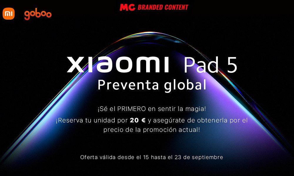 Consigue el Xiaomi Pad 5 antes que nadie, con Goboo