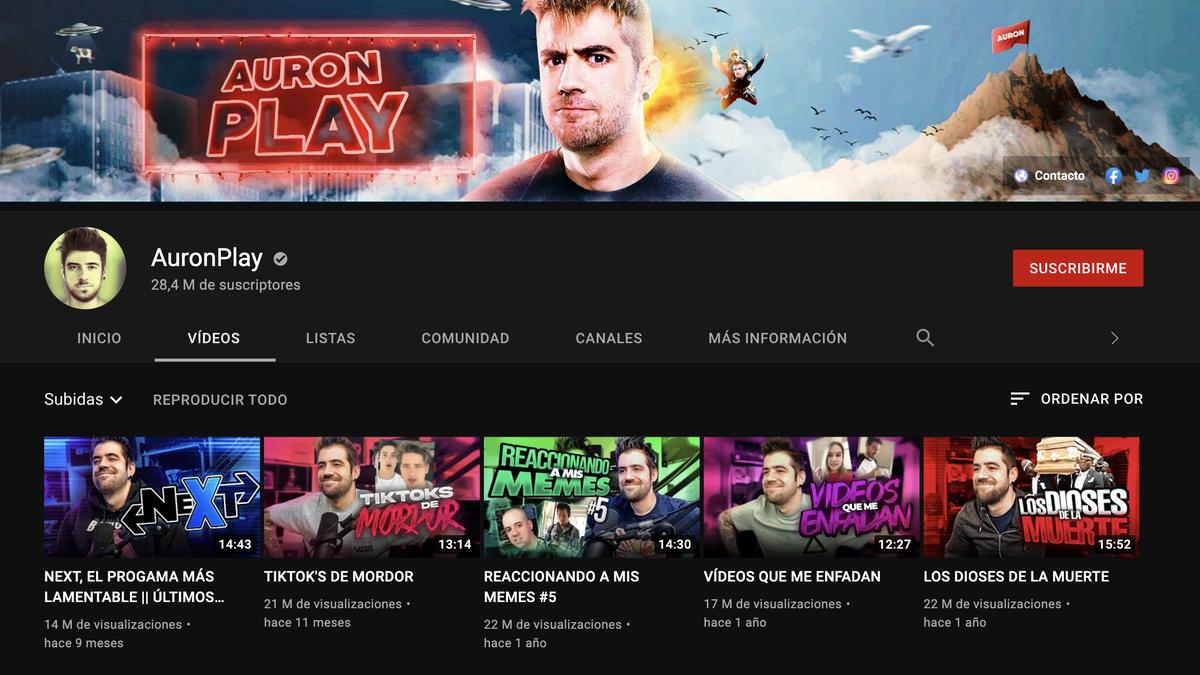 AuronPlay deja YouTube tras convertirse en el streamer número 1 de Twitch