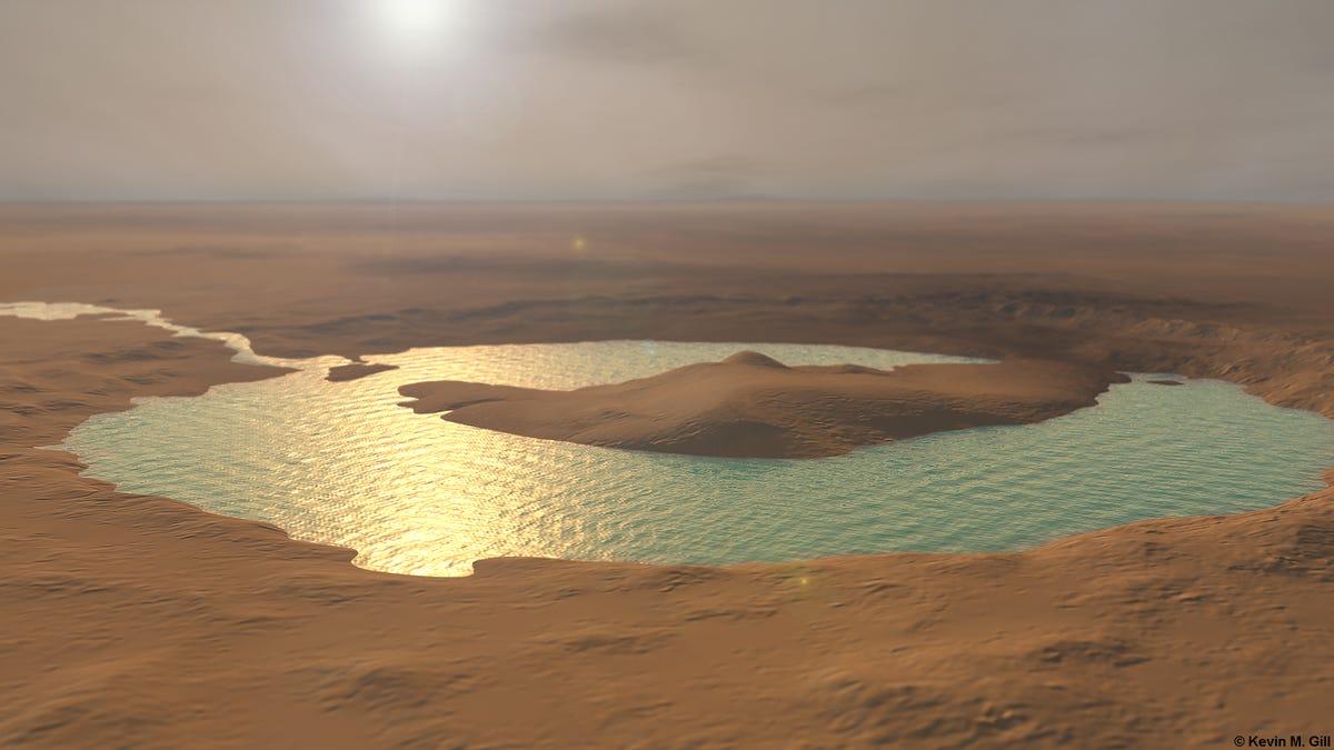 El catastrófico origen de los ríos de Marte