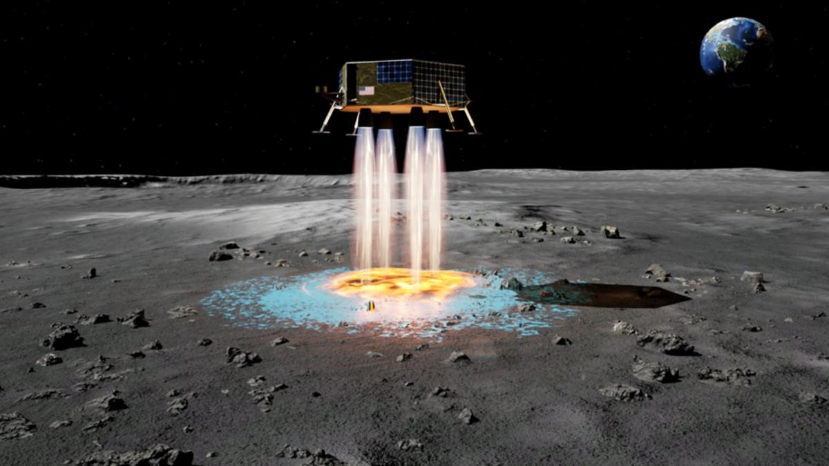 Este motor de nave espacial crea su propia zona de aterrizaje