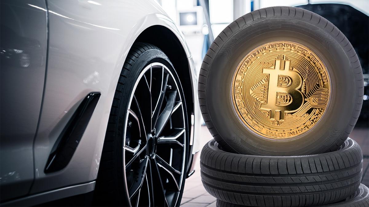 Ya puedes cambiar los neumáticos del auto con bitcoin en Argentina