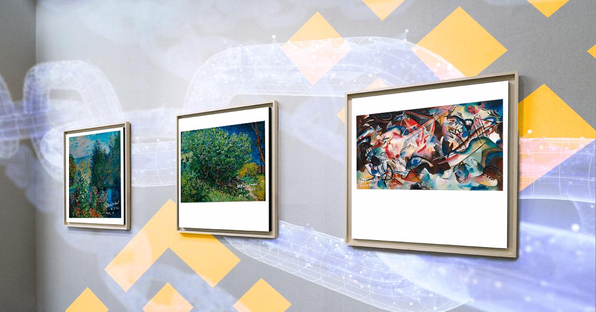 Van Gogh, Da Vinci, Kandinsky y Monet exponen sus obras en mercado NFT de Binance