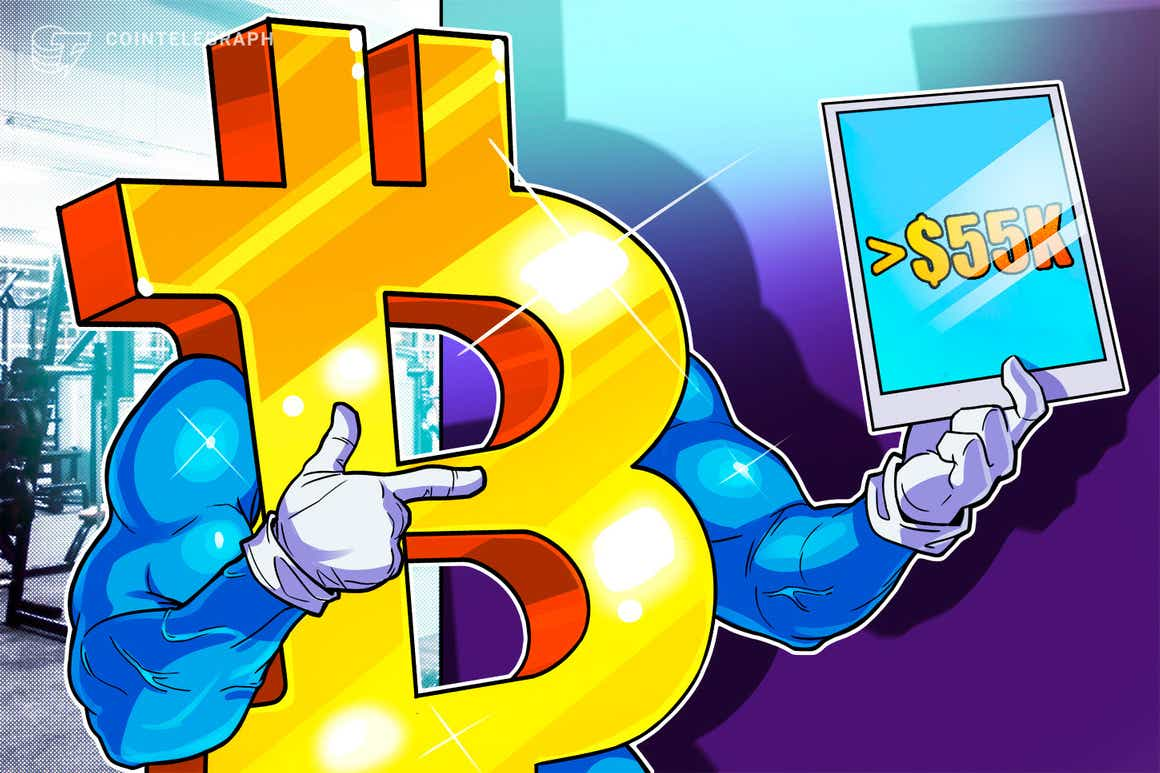 ¿De qué corrección de BTC hablan? El precio de Bitcoin mantiene los USD 55,000 a pesar de varios indicadores bajistas