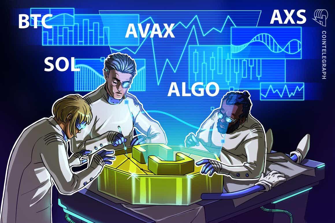 Las 5 principales criptomonedas a observar esta semana: BTC, SOL, AVAX, ALGO, AXS