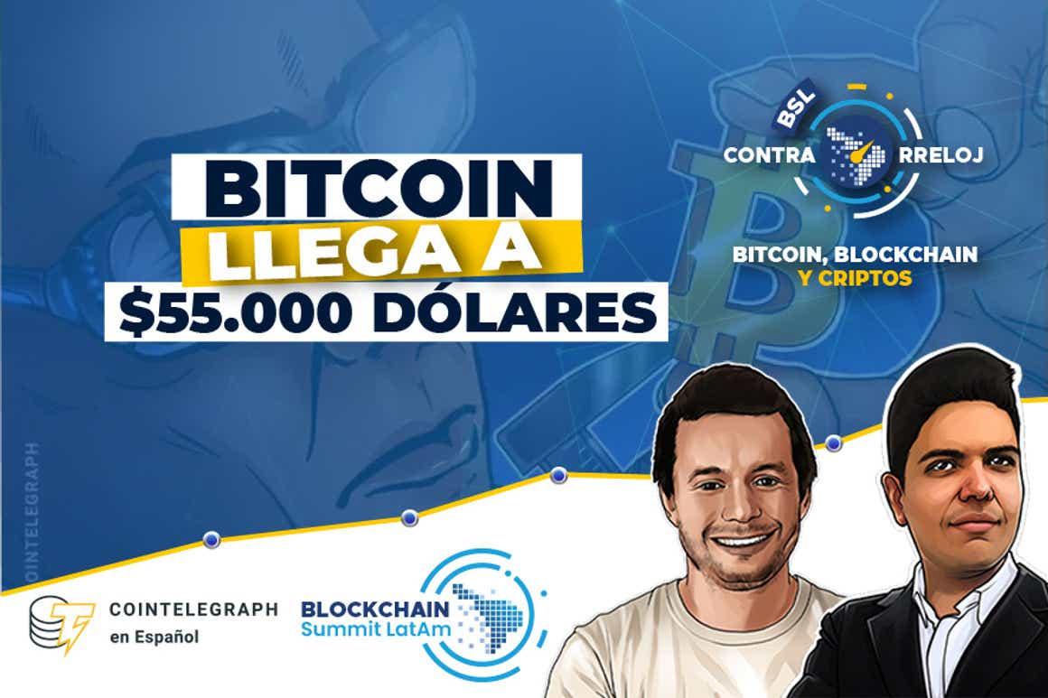 Precio de Bitcoin a 55.000 dólares, Repunte del hash rate, Subsidio pro-BTC en El Salvador y mucho más. Un resumen de las criptonoticias más importantes de la semana
