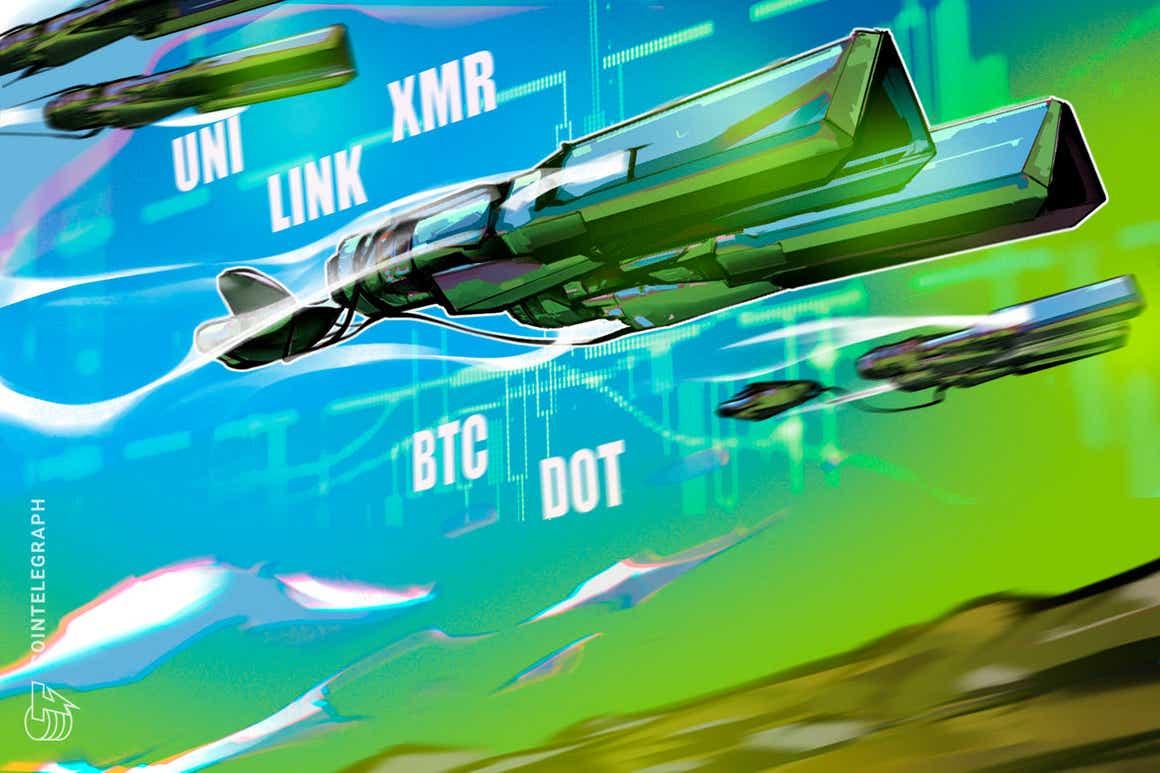 Las 5 principales criptomonedas a observar esta semana: BTC, DOT, UNI, LINK, XMR