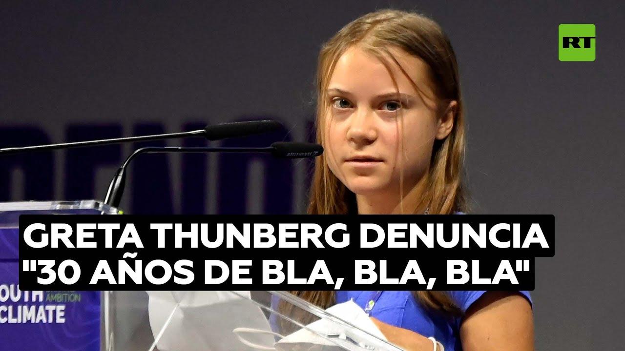 Greta Thunberg pide acciones reales contra el cambio climático