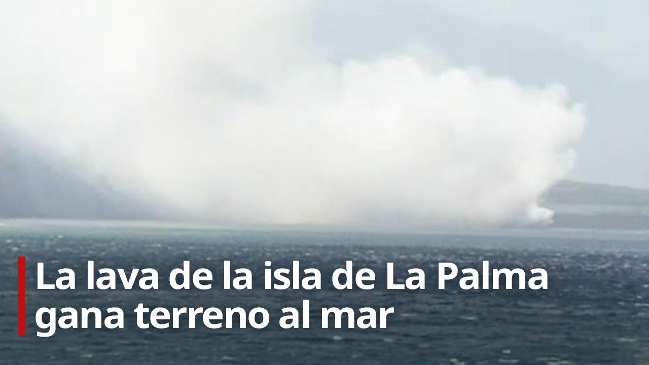 🔴 La lava de la isla de La Palma gana terreno al mar