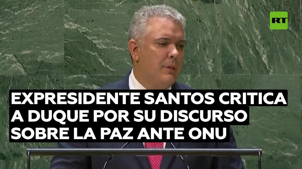 Juan Manuel Santos critica a Duque por su discurso sobre la paz ante la ONU