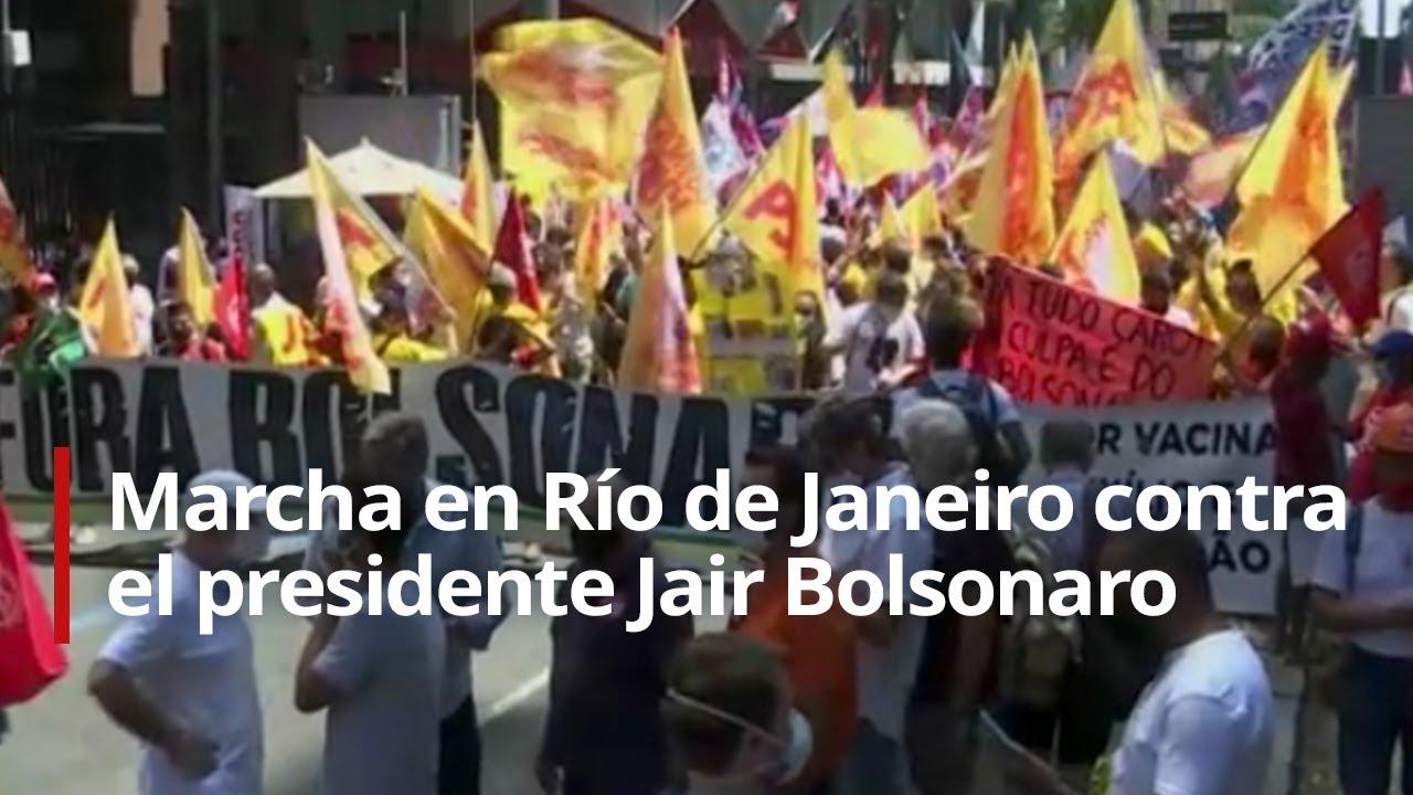🔴 Activistas marchan en Río de Janeiro contra el presidente Jair Bolsonaro
