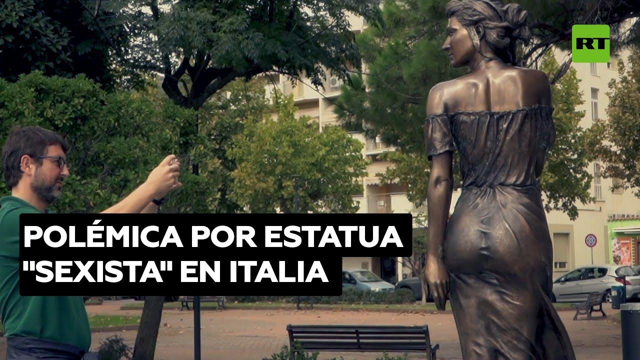 Controversia por una estatua de bronce de una mujer en la localidad italiana de Sapri