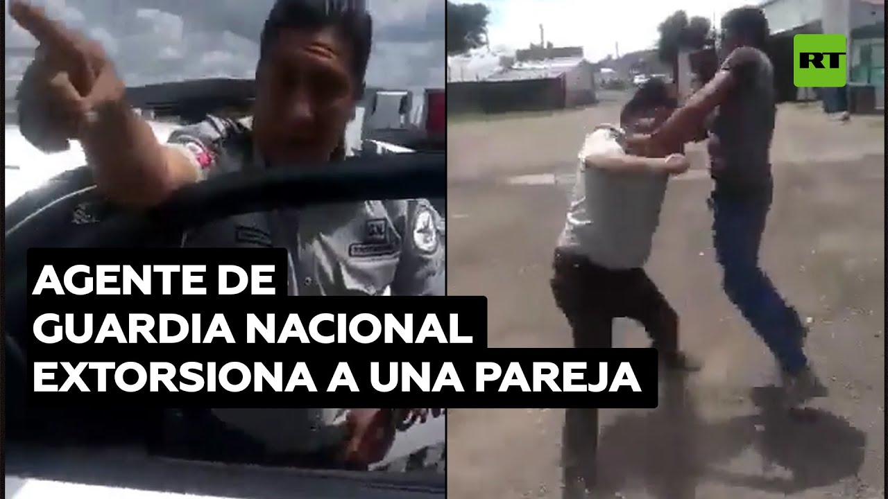 Un Guardia de México reaccionó molesto al ser grabado tras una extorsión