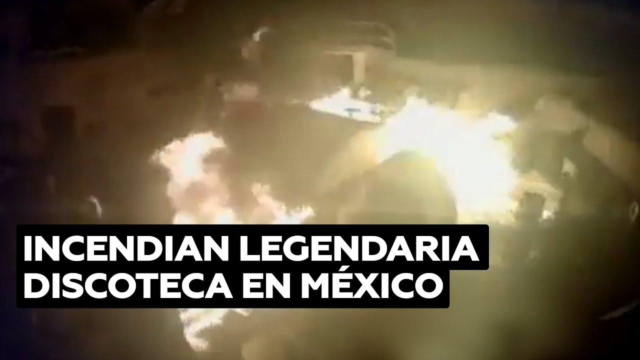 Hombres incendiaron la legendaria discoteca Baby'O en la playa mexicana de Acapulco