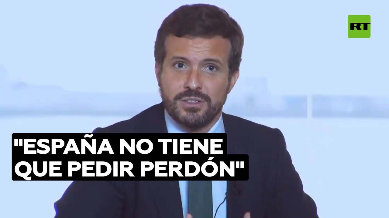 """Casado se reúne con Calderón y asegura que """"España no tiene que pedir perdón"""""""