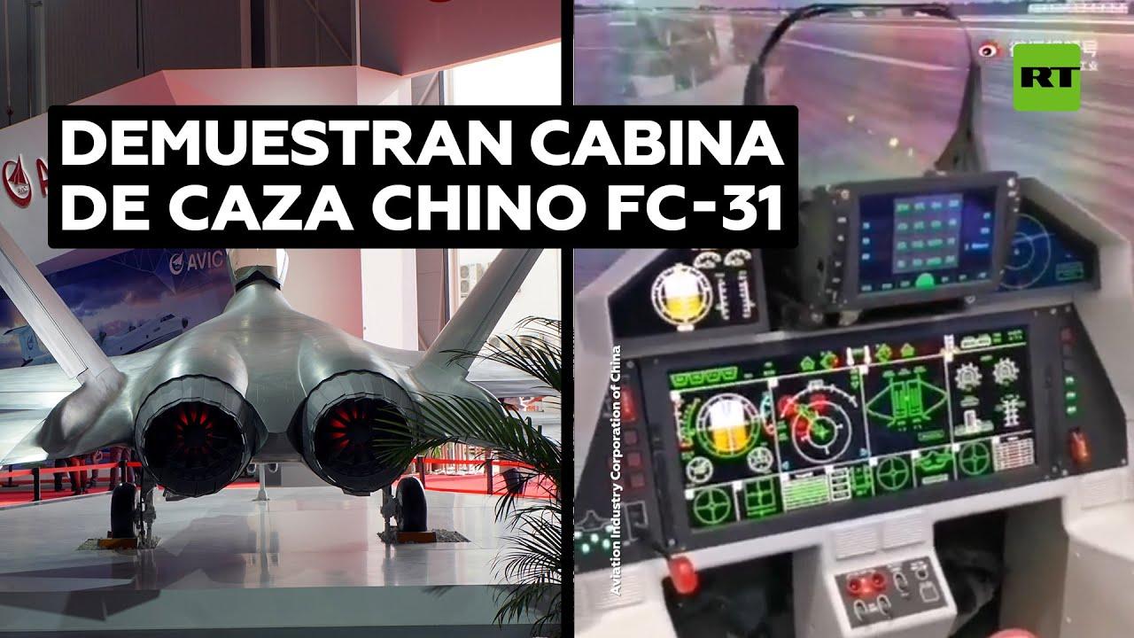 Revelan la cabina del último caza chino de quinta generación FC-31