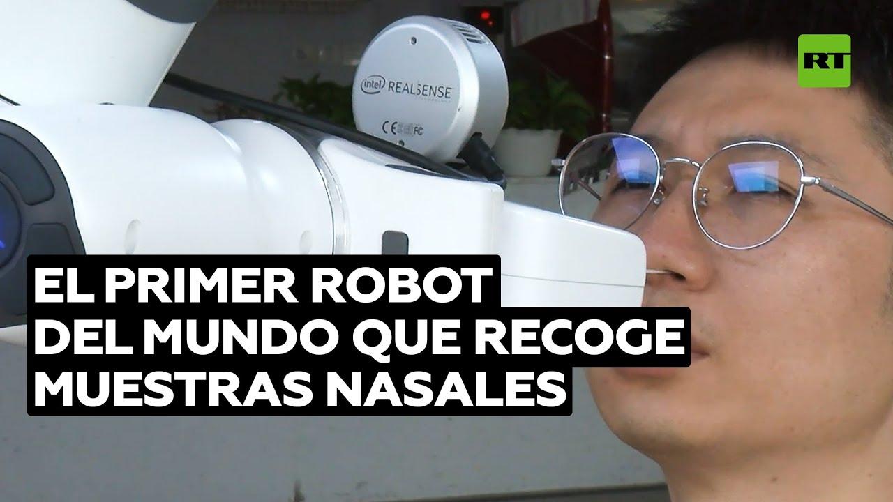 Este robot chino recoge muestras nasales, sustituyendo a médicos y enfermeras