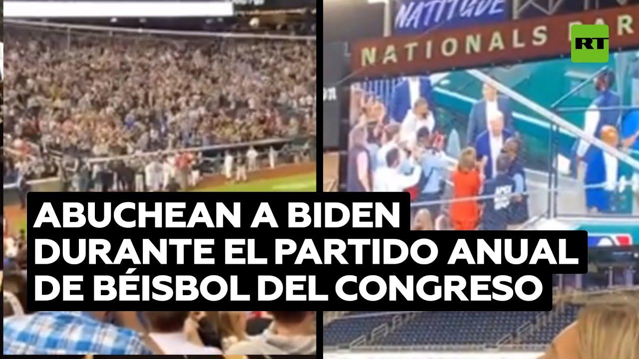Abuchean a Biden durante el partido anual de béisbol del Congreso