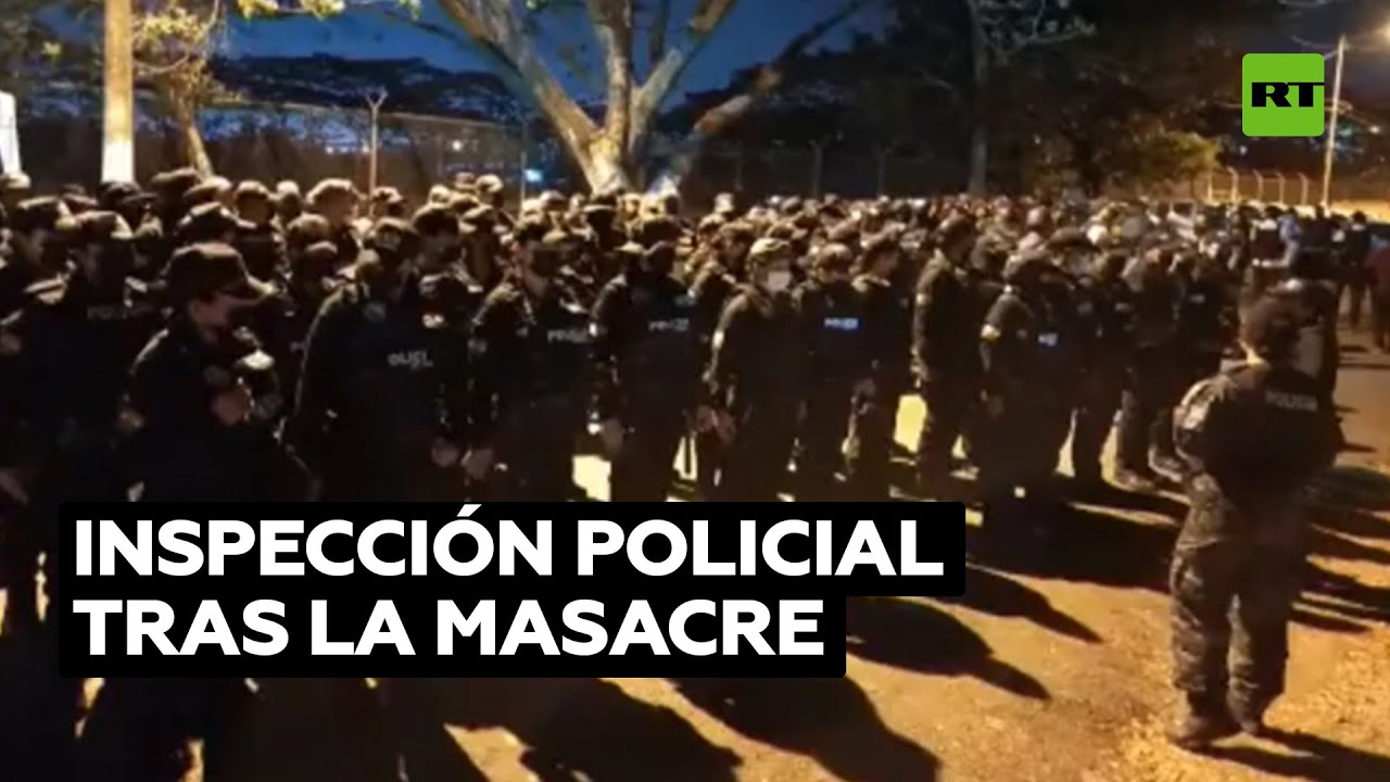 Policías ecuatorianos allanan la cárcel de Guayaquil donde murieron 118 presos en un motín