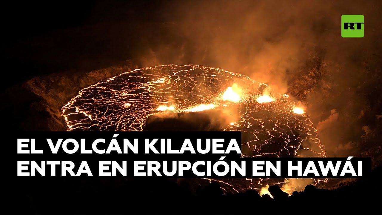 Uno de los volcanes más activos del planeta, el Kilauea, entra en erupción en Hawái