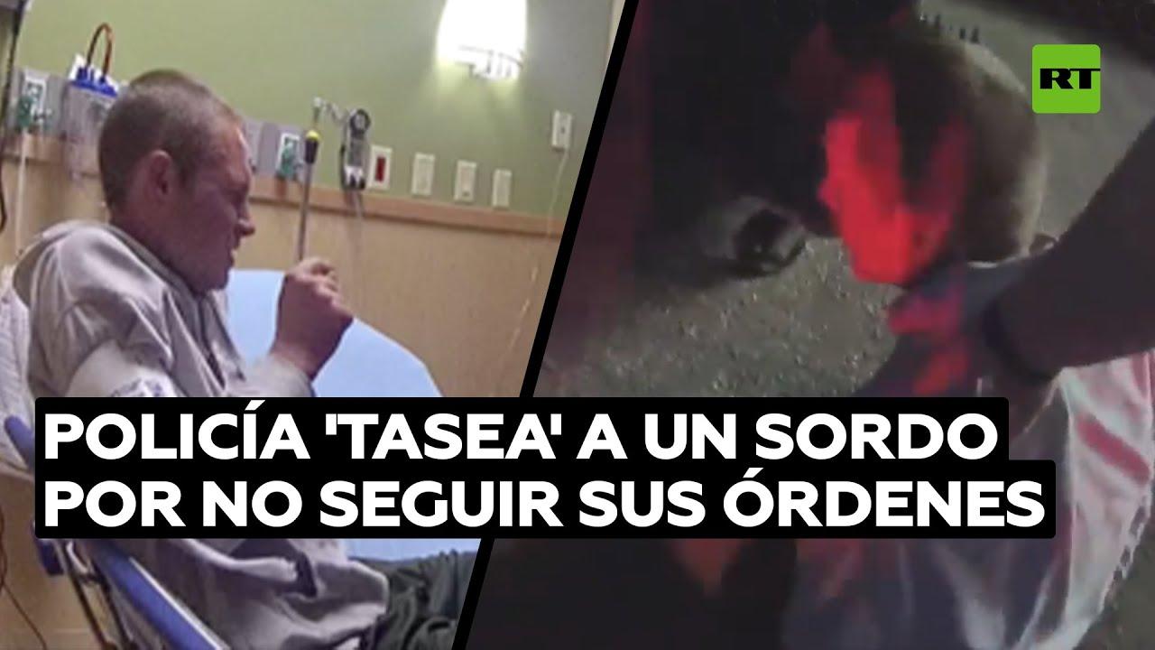 Policías de EE.UU. tasean a un sordo que no podía oír lo que le pedían @RT Play en Español