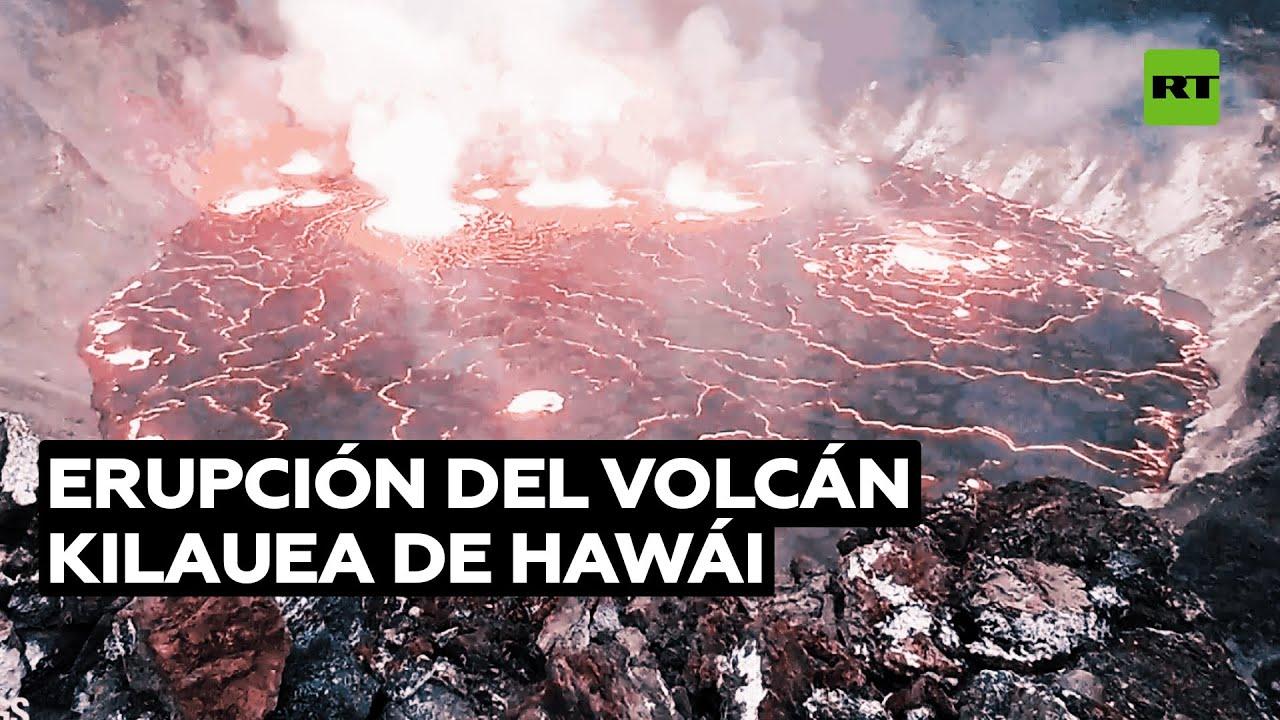 'Time-lapse' de la erupción del volcán Kilauea de Hawái
