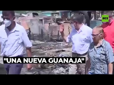 """El presidente de Honduras promete construir """"una nueva Guanaja"""" tras el incendio que devastó la isla"""