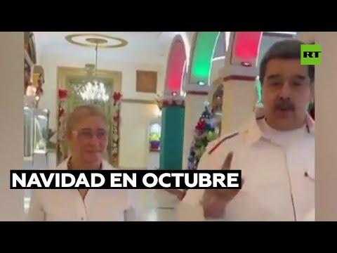 Nicolás Maduro adelanta los festejos navideños en el Palacio de Miraflores