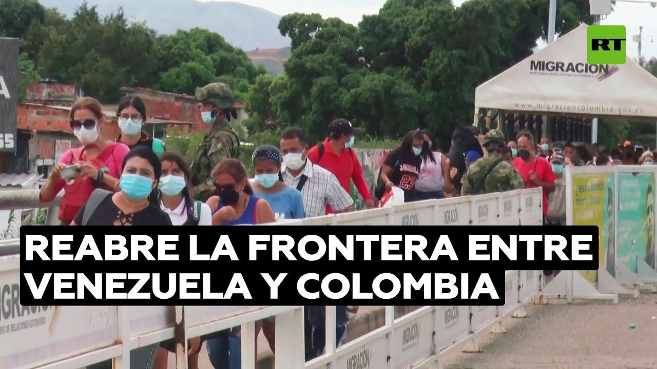 Se reabre la frontera entre Venezuela y Colombia tras casi tres años cerrada