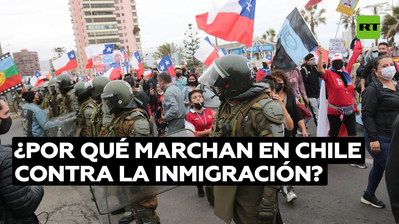 """Rechazo a la marcha """"xenófoba"""" contra los migrantes en Chile"""