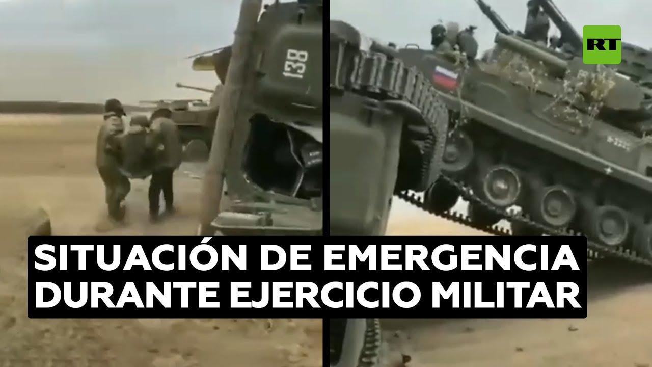 Varios heridos en una colisión de vehículos militares durante unos ejercicios en Rusia