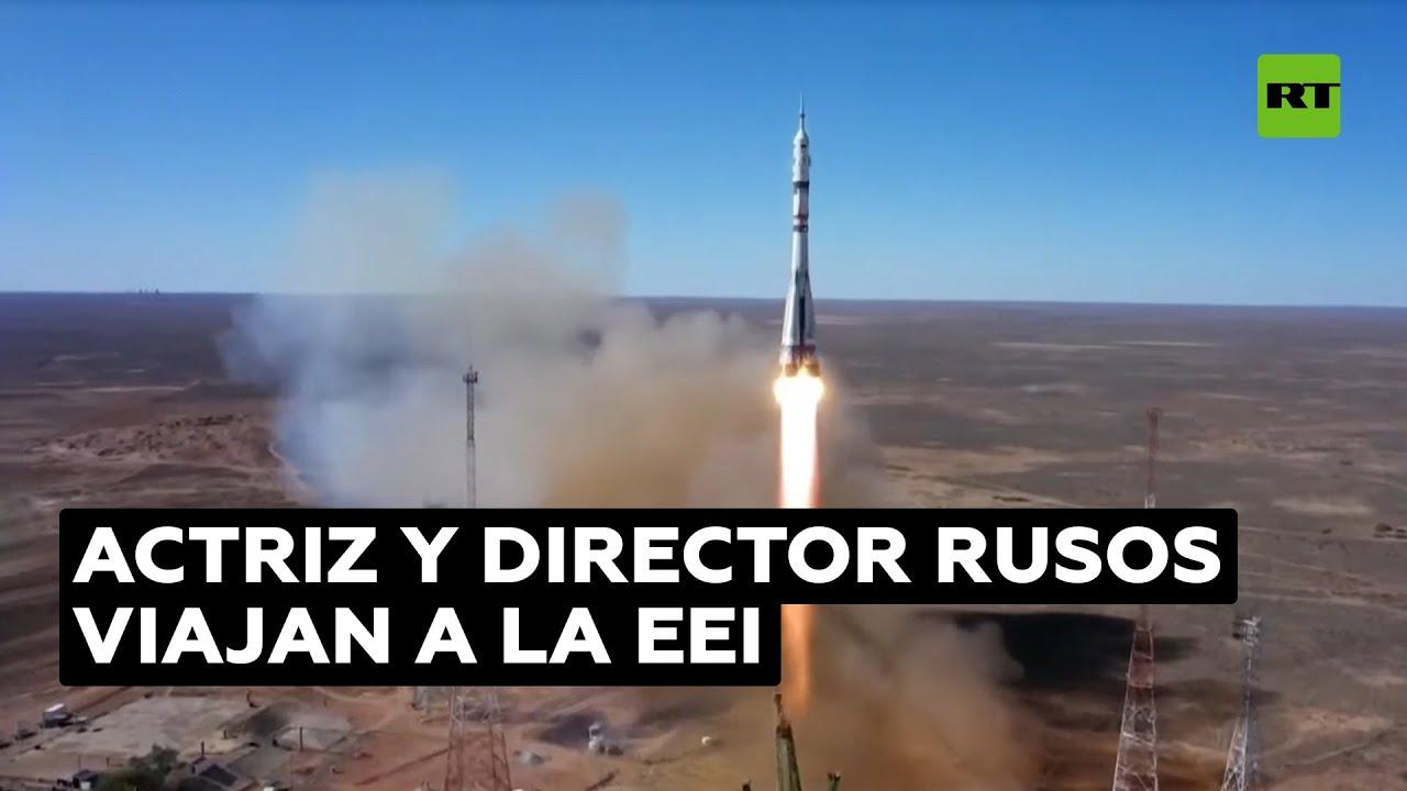 Despega el cohete con el primer equipo de cine que viaja al espacio