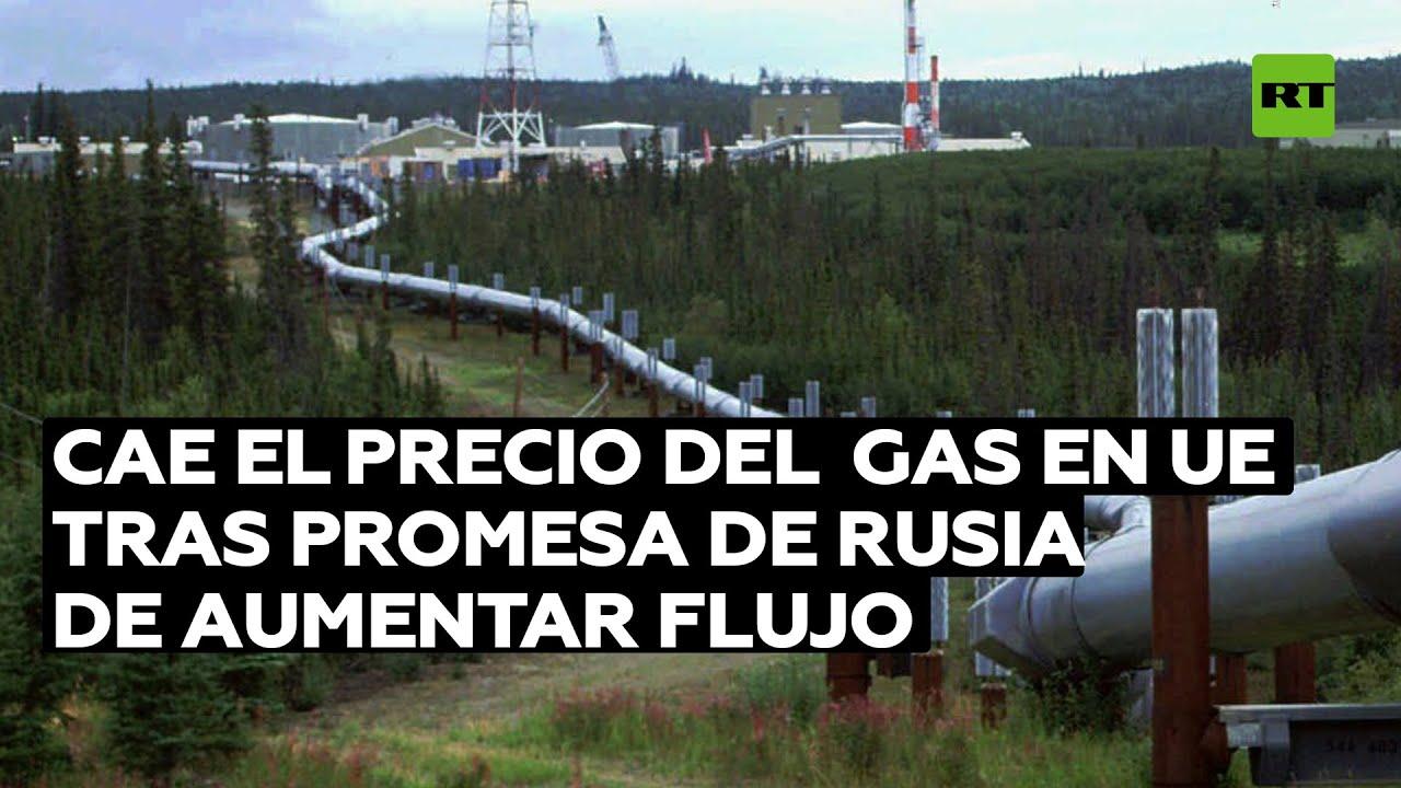 Cae el precio del gas en Europa tras la promesa de Rusia de aumentar el suministro