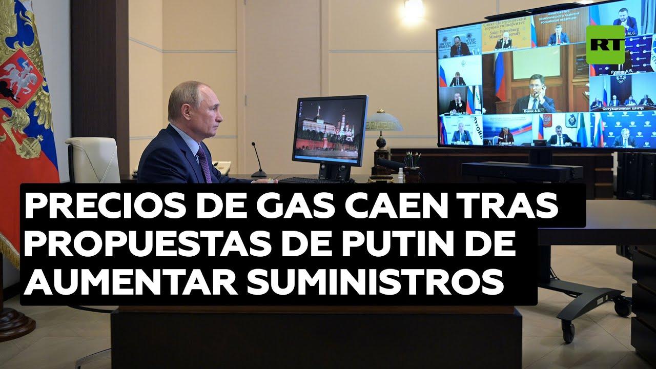 El precio del gas en Europa cae tras la propuesta de Putin de aumentar los suministros