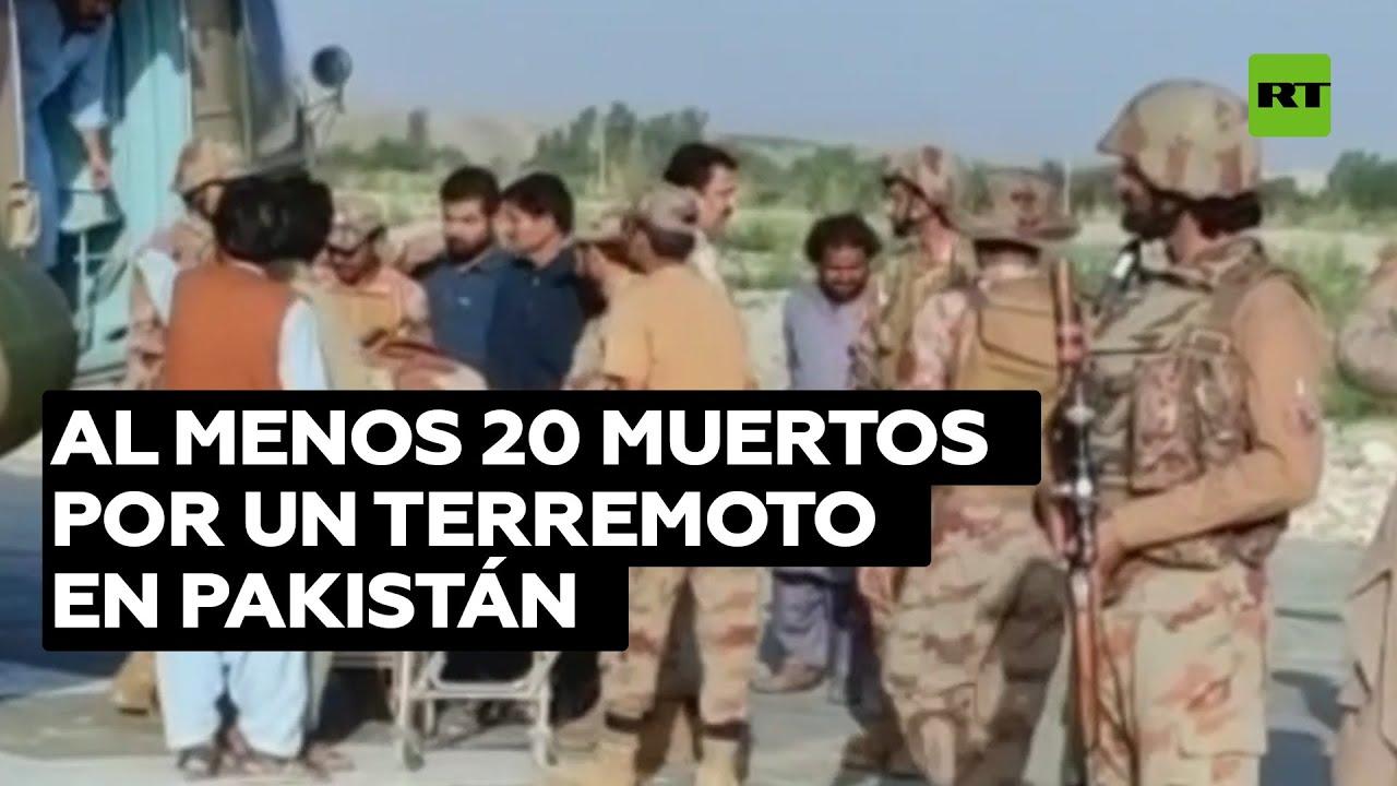No menos de 20 personas mueren en un sismo de 5,7 en el sur de Pakistán