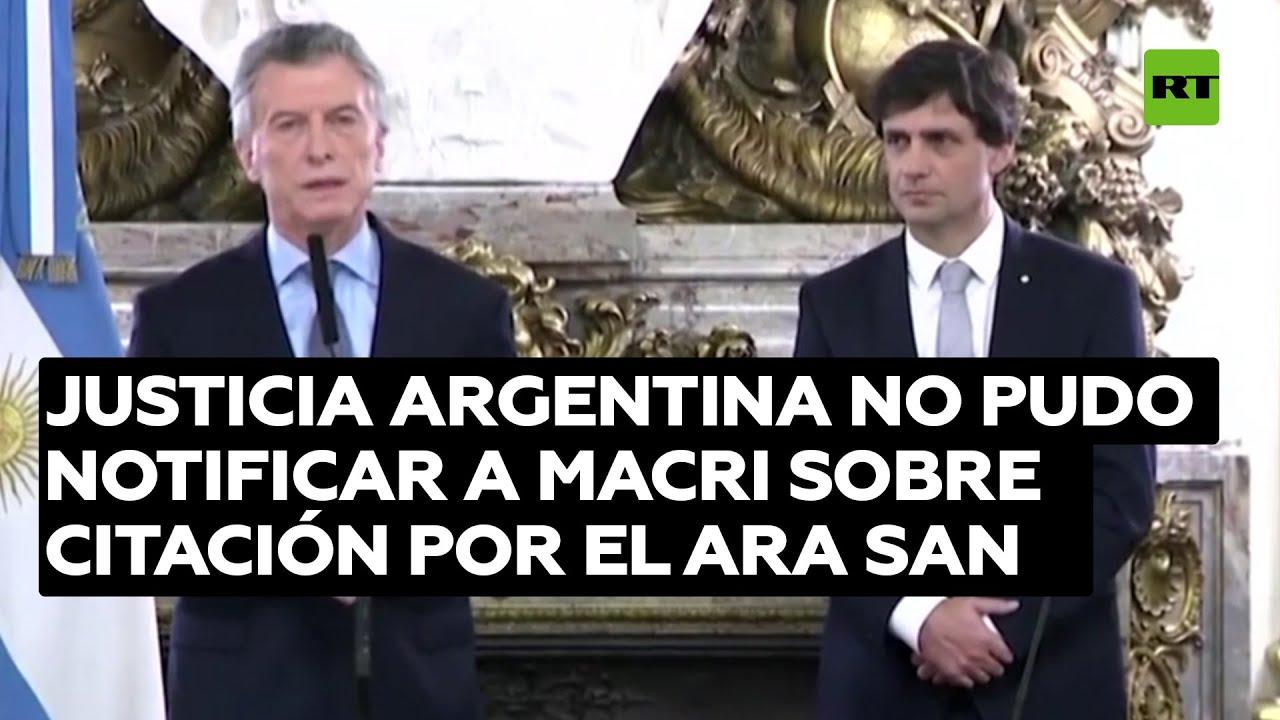Justicia argentina no pudo notificar a Macri sobre citación por el submarino ARA San Juan