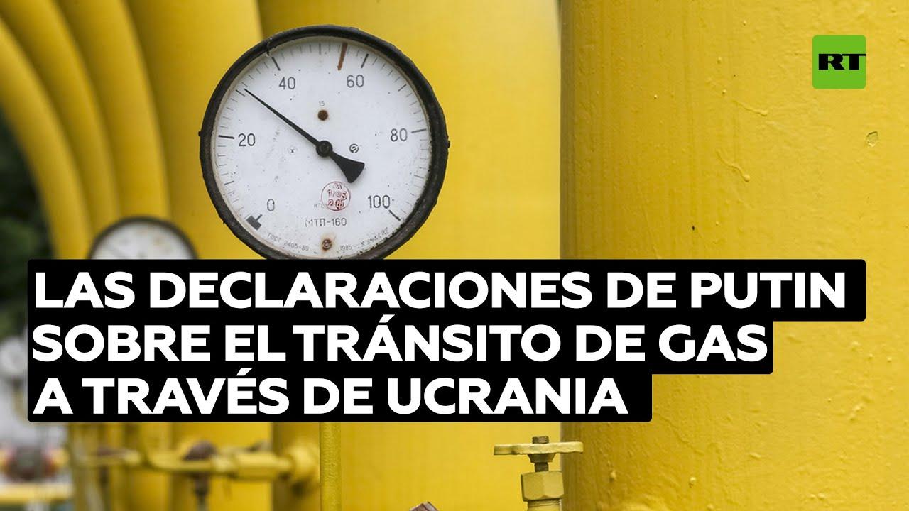 Putin declara que hay que cumplir los compromisos sobre el tránsito de gas a través de Ucrania
