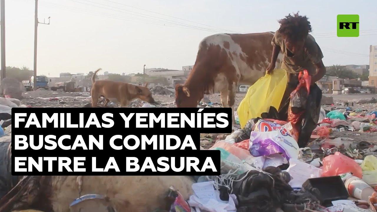 Familias de desplazados rebuscan entre la basura por la guerra de Yemen @RT Play en Español