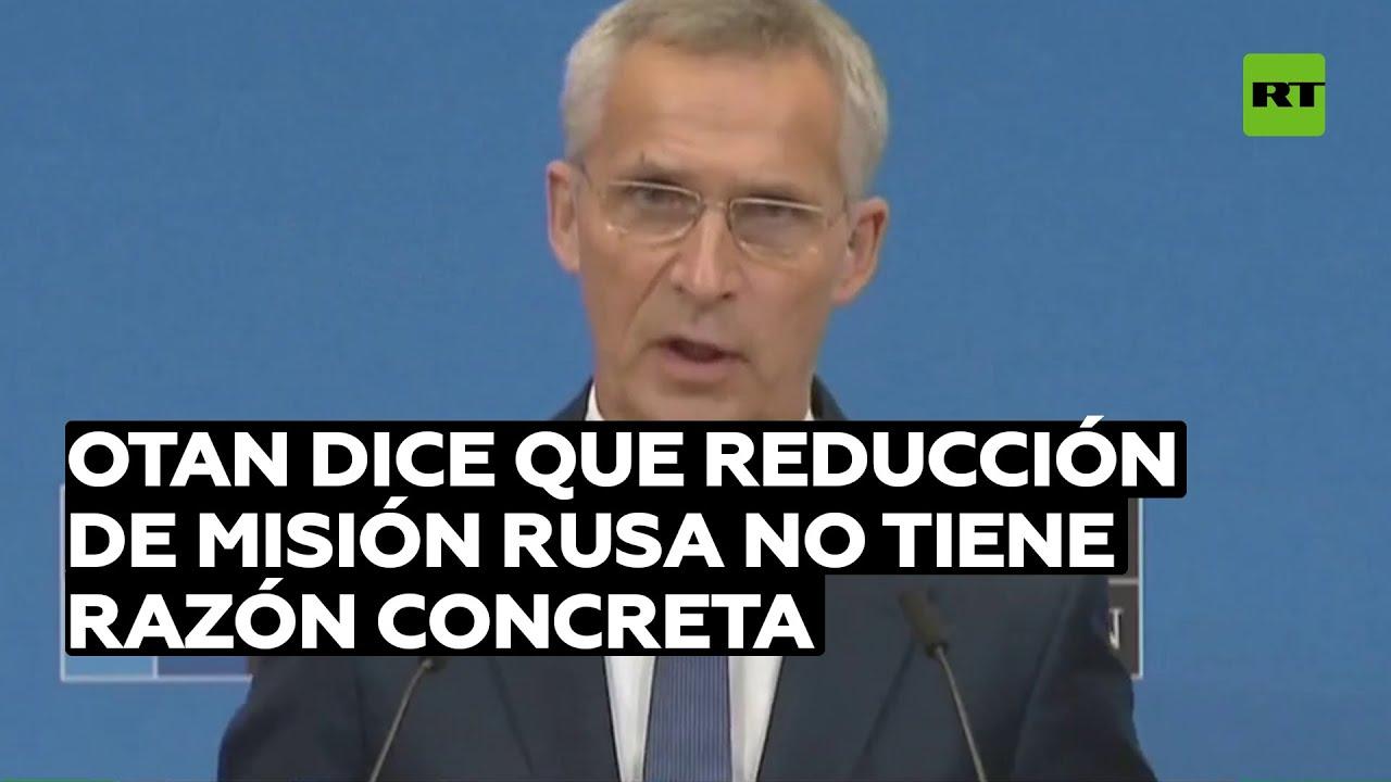 La OTAN dice que la reducción de la misión rusa no tiene razón concreta